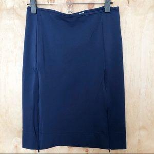 DVF   pencil skirt   blue